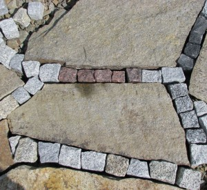 płyty gnejsowe z kostką granitową