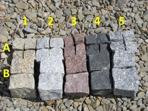 Kostka granitowa - rodzaje