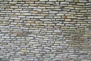 Ściana z cegły z piaskowca