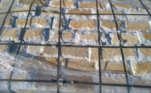 Płyty marmurowe cięto-łupane biało-rudo-złote 2