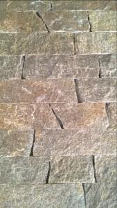 Gnejs łupany formatowany dwustronnie szaro-rudy z brązem