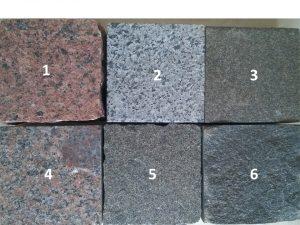 Granity - zestawienie wybranych kolorów