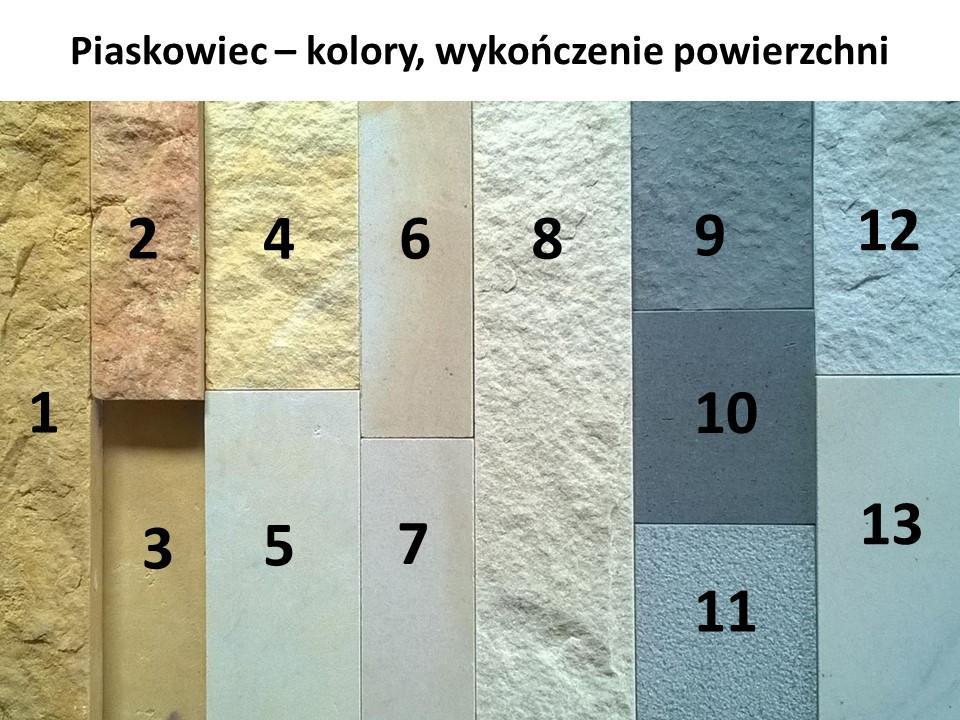 Piaskowiec - kolory, wykończenie powierzchni