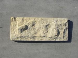Piaskowiec elewacyjny - płytka łupana formatowana biało-żółta 2
