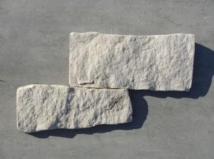 Piaskowiec elewacyjny - płytka odbijana cięto-łupana - biało-żółta 2