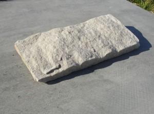 Piaskowiec elewacyjny - płytka odbijana cięto-łupana - biało-żółta