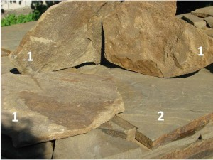 Piaskowiec kwarcowy - relief i płaski 2