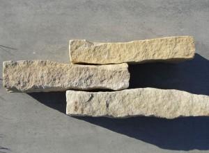 Piaskowiec - kamień rzędowy biało-żółty i żółty
