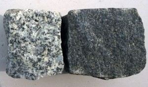 Kostka czarna vs szara
