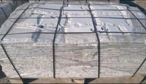 Płyty marmurowe cięto-łupane białe