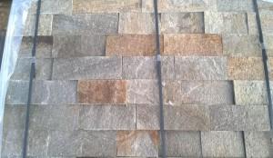 Gnejs szaro-rudy z brązem łupany formatowany czterostronnie 2