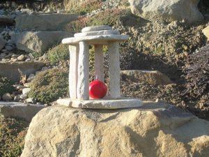 latarnia ogrodowa z kamienia